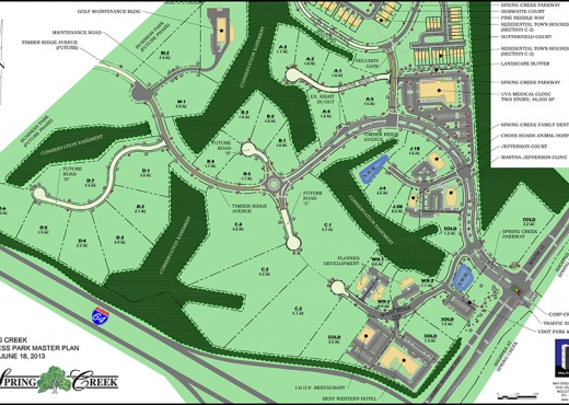 Spring Creek Business Park Is A Multi Lot 155 Acre Site Located Less Than One Mile North Of Interstate 64 On U S Route 15 This Business Park Is Part Of A