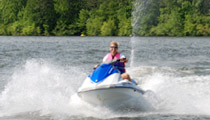 Jet skiing on Lake Anna